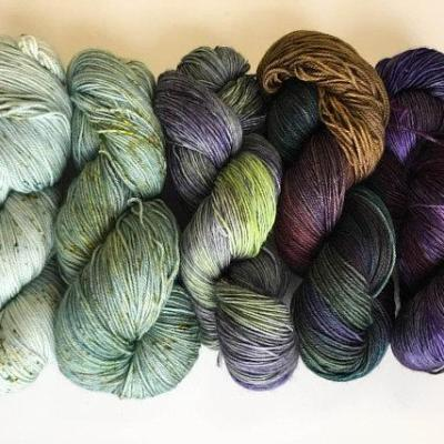5 skein set: Vineyard