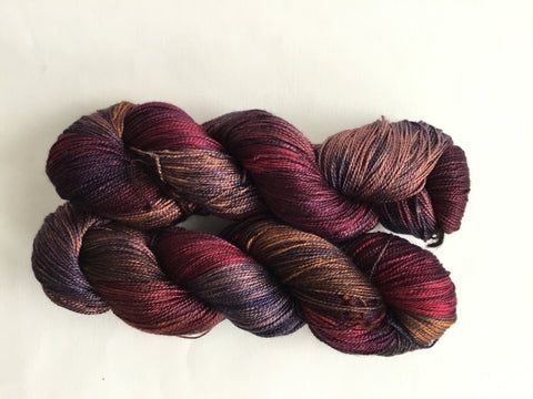 Limited Edition Silk Fingering - Little Burgundy