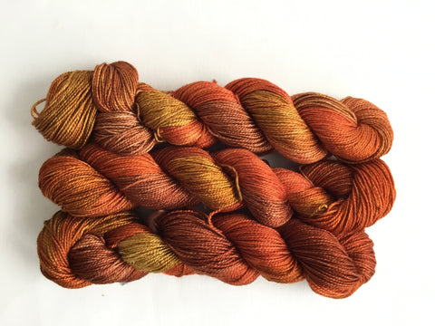 Limited Edition Silk Fingering - Pumpkin