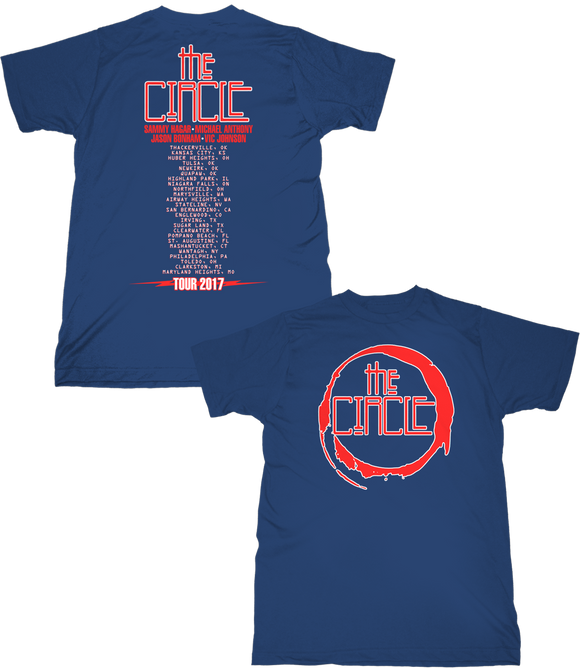 The Circle Tour Tee-Blue