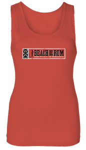 Ladies Red Beach Bar Rum Tank