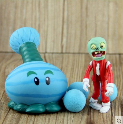 Plant vs Zombies Blue Plant + Zombie Peashooter