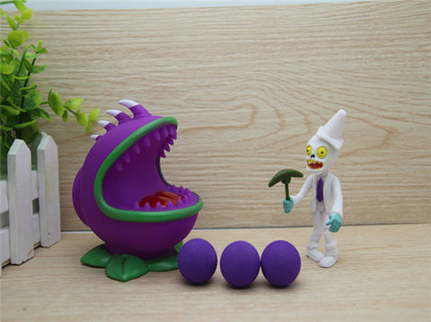 Plant vs Zombies purple Plant + Zombie Peashooter