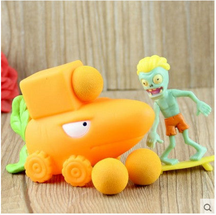 Plant vs Zombies Orange Plant + Zombie Peashooter