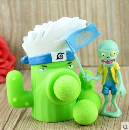 Plant vs Zombies Green Cactus Plant + Zombie Peashooter