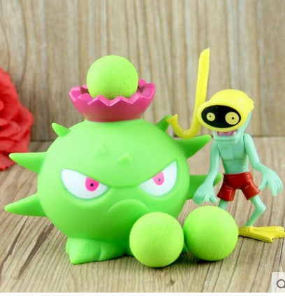 Plant vs Zombies Green Rhino Plant + Zombie Peashooter