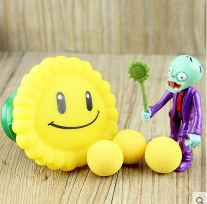 Plant vs Zombies Sunflower Plant + Zombie Peashooter