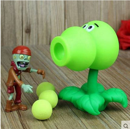 Plant vs Zombies Green Plant + Zombie Peashooter