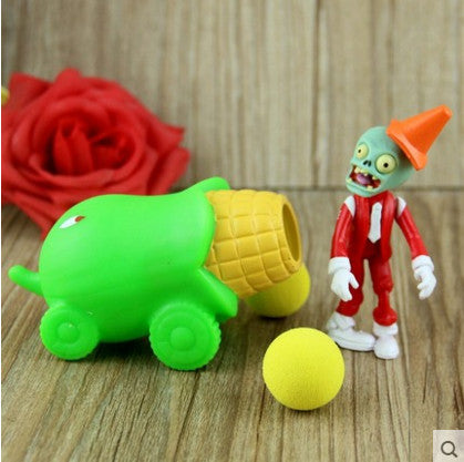 Plant vs Zombies Corn + Zombie Peashooter