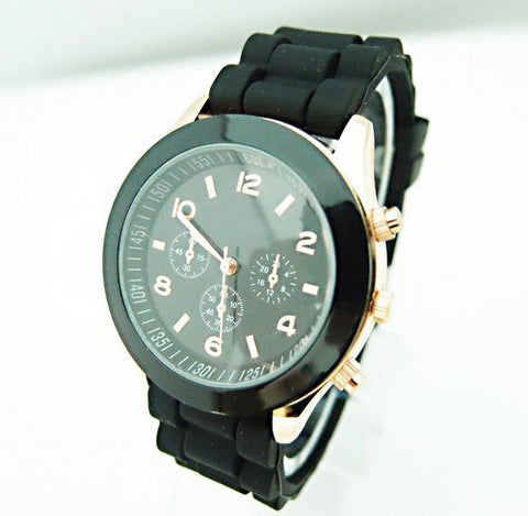 Hot Sales Geneva Brand Silicone Watches Women