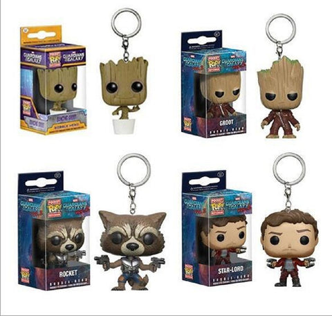 Guardians of Galaxy Character Keychains