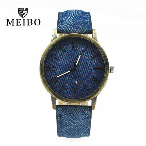 MEIBO Casual Wooden Color Leather Strap Male Wrist watch | FREE Shipping