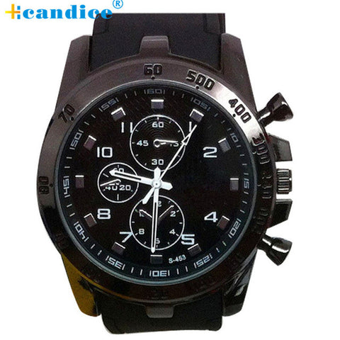 Rubber strap Large Dial Military Sport Quartz Wrist Watch | FREE Shipping
