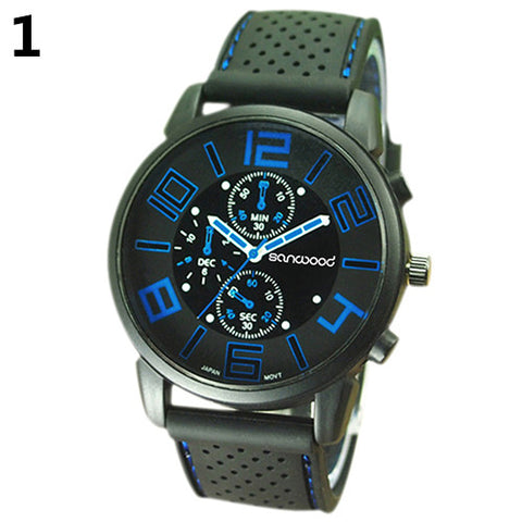 Men's Casual Sports Stainless Steel Silicone Band Quartz | FREE Shipping