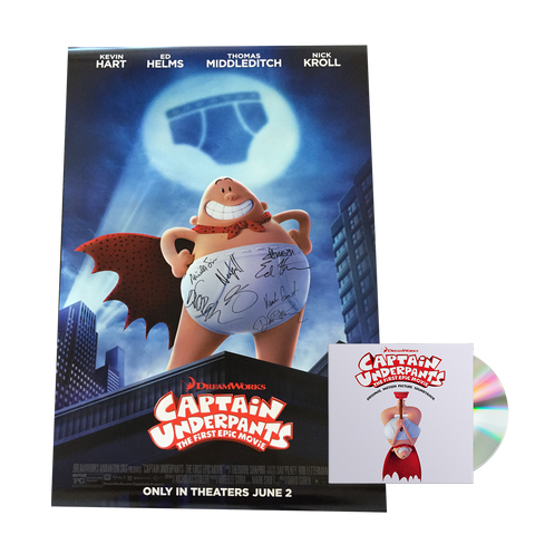 Captain Underpants - *Autographed* Poster + Official Soundtrack CD