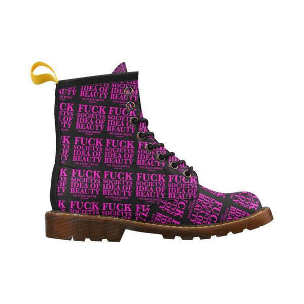 No Fixed Abode EFF Society's Idea of Beauty Women's Combat Boots