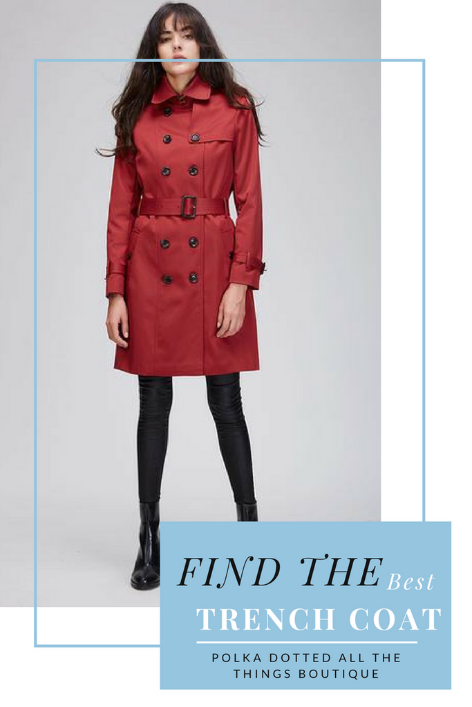 How to find the perfect trench coat at Polka Dotted All The Things Boutique #fashion