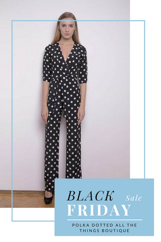 Polka Dot Jump Suit Black Friday Sale at Polka Dotted All The Things