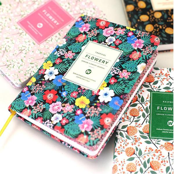 Floral Flower Weekly Monthly Planner Organizer Notebook