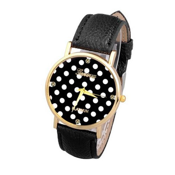 Women Polka Dot Analog Watch