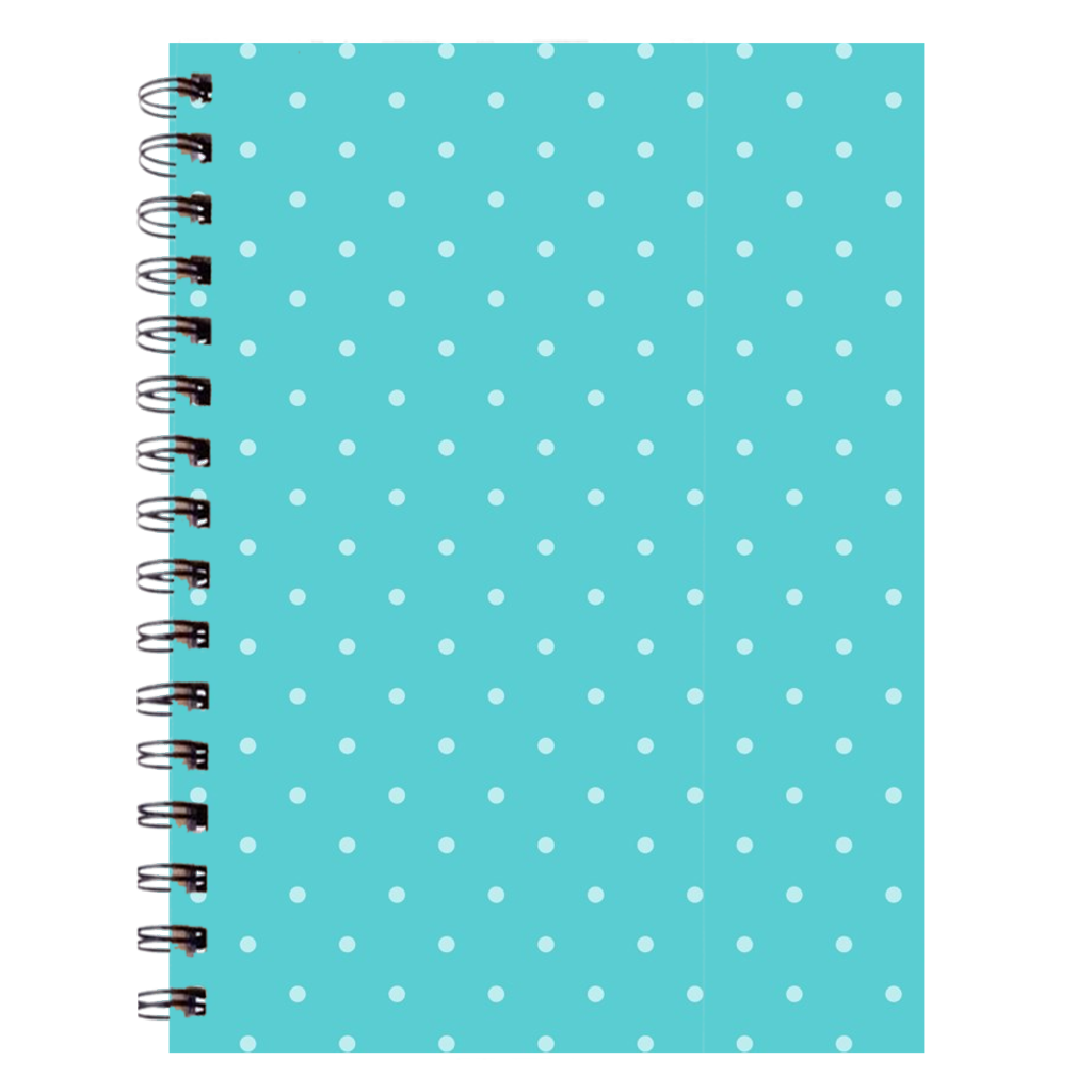 Teal Polka Dot Notebooks - 6.75X9 Inch (1) - Journal