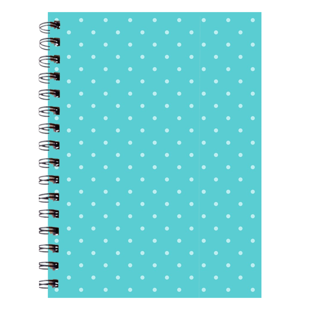 Teal Polka Dot Notebooks - 6.75X9 Inch (2) - Journal