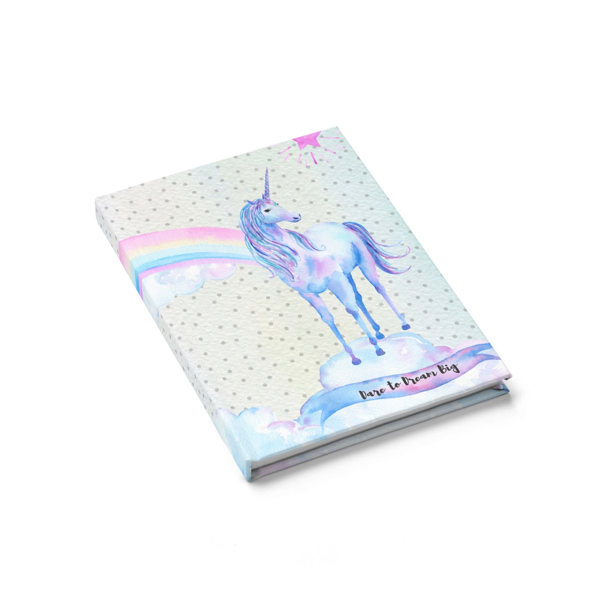 Unicorn Polka Dot Dare to Dream Big Journal - Ruled Line Paper products - Polka Dotted All The Things Boutique