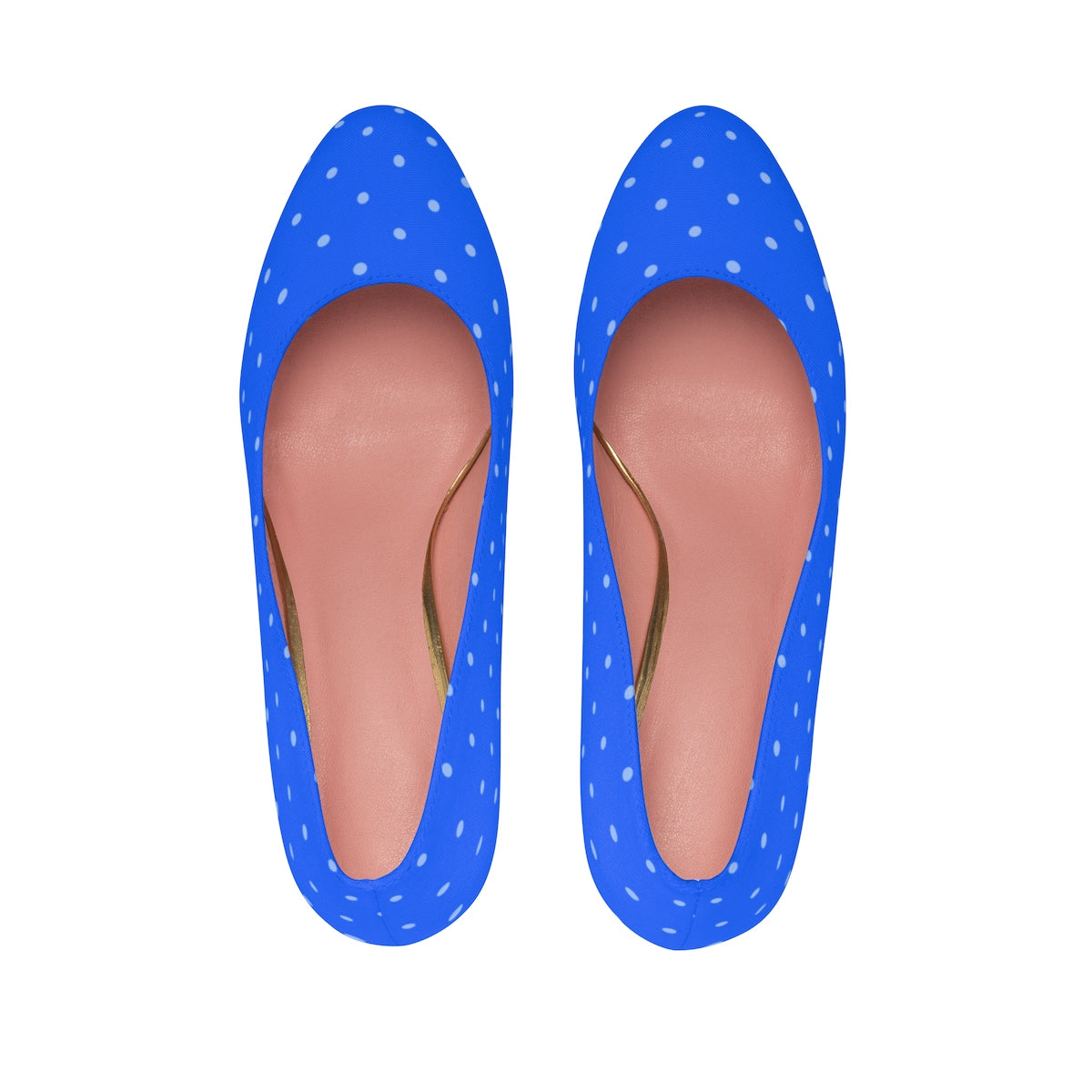 As Far as the Eye Can See Blue Polka Dot High Heels Shoes - Polka Dotted All The Things Boutique