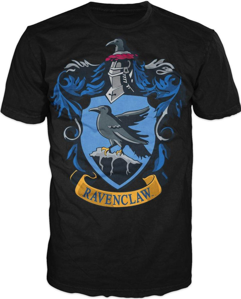 Harry Potter Ravenclaw Crest Mens Black T-Shirt - One Of Four Houses Of Hogwarts