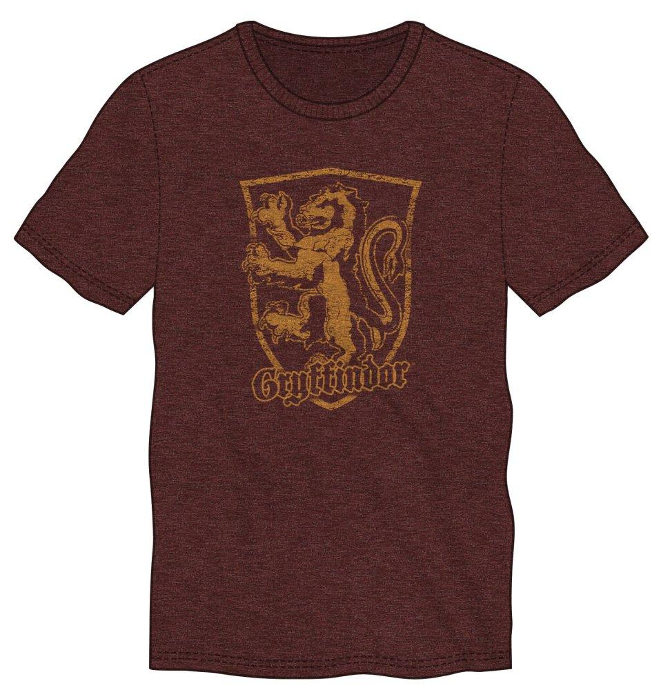 Harry Potter Gryffindor Logo Mens Burgundy T-Shirt