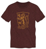 Harry Potter Gryffindor Logo Men's Burgundy T-Shirt - Angel Effect Shop