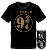 Harry Potter Hogwarts Express Platform Nine and Three-Quarters 9 3/4 Men's Black T-Shirt  - Polka Dotted All The Things Boutique