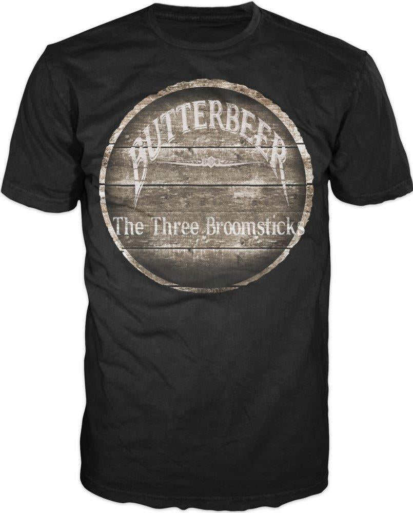 Harry Potter Butterbeer The Three Broomsticks Mens Black T-Shirt