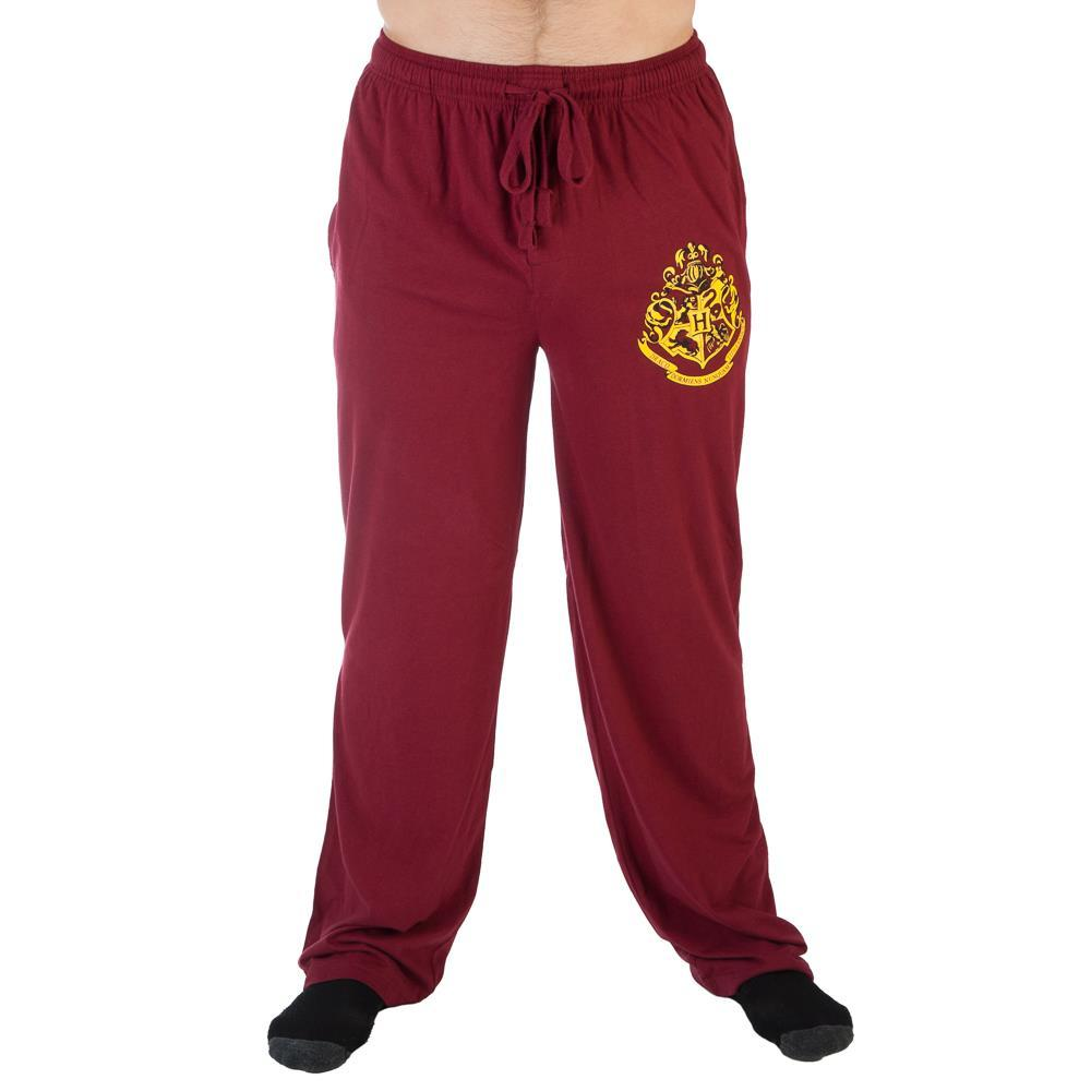 Harry Potter Hogwarts Crest Burgundy Sleep Lounge Pants  - Polka Dotted All The Things Boutique