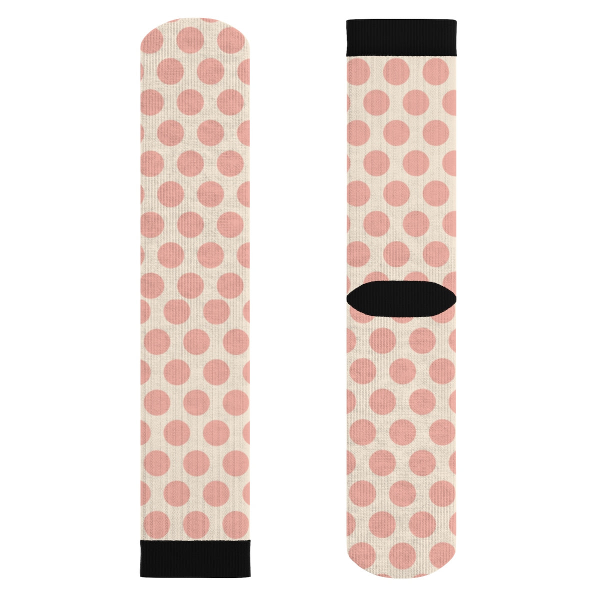 Pink on Pink Polka Dot Socks All Over Prints - Polka Dotted All The Things Boutique