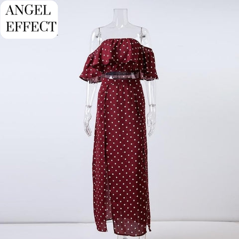 Ensemble Sexy Femme À Pois Angel - Rouge / S - Robe À Pois
