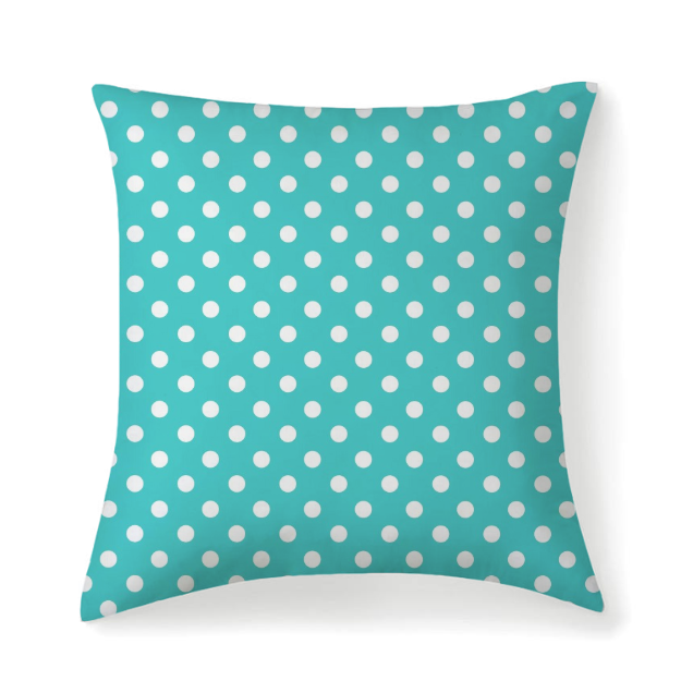 Loreiller Carré À Pois Microfibre - 14X14 / Only Pillow Case - Coussins