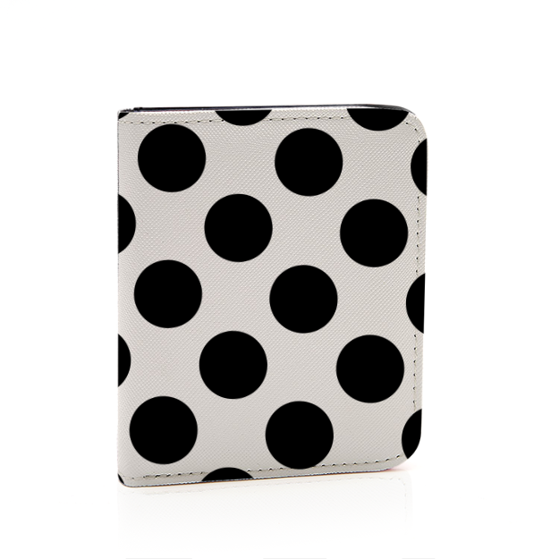 Black and White Polka Dot Short Wallet Card Holder Bag - Polka Dotted All The Things Boutique