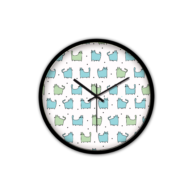 Horloge Chat murale silencieuse - Angel Effect Shop