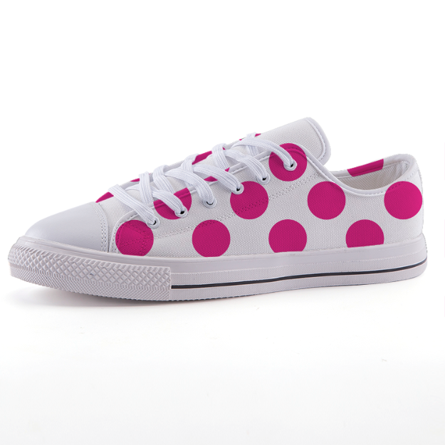 Low-top fashion canvas shoes Shoes - Polka Dotted All The Things Boutique
