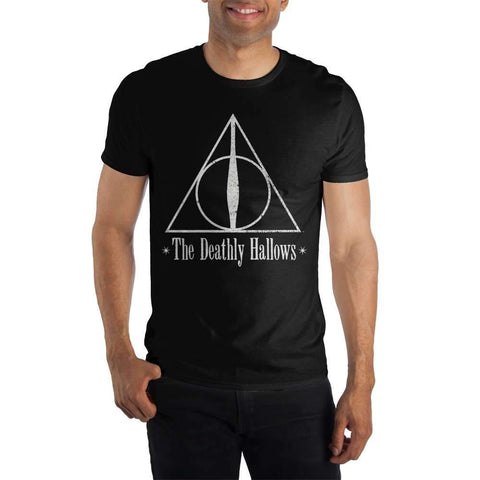Harry Potter The Deathly Hallows Logo Women's Black T-Shirt  - Polka Dotted All The Things Boutique