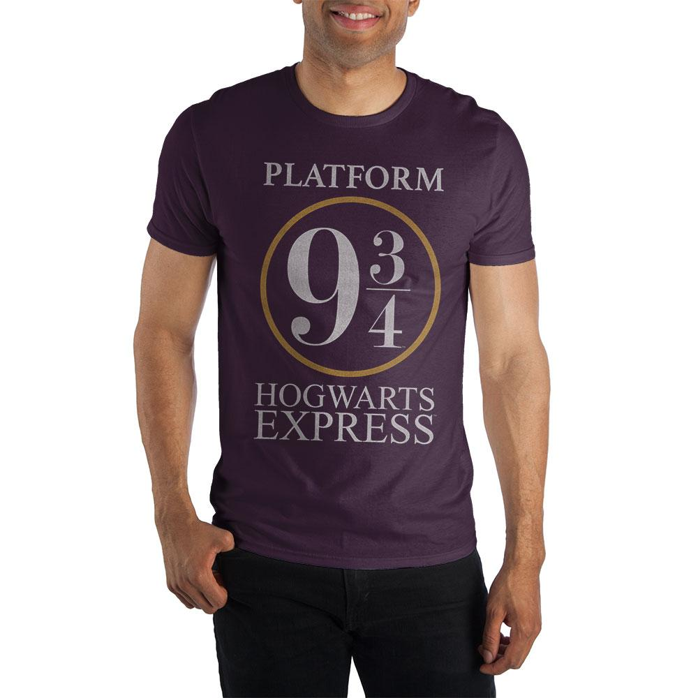 Harry Potter Platform Nine and Three-Quarters 9 3/4 Hogwarts Express Women's Burgundy T-Shirt  - Polka Dotted All The Things Boutique
