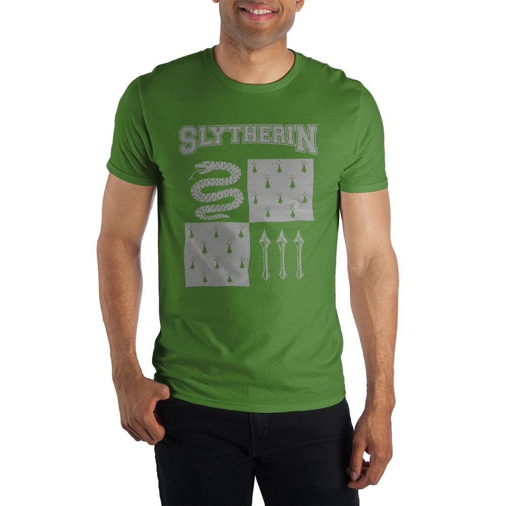 Harry Potter Slytherin Element of Water Men's Green T-Shirt  - Polka Dotted All The Things Boutique