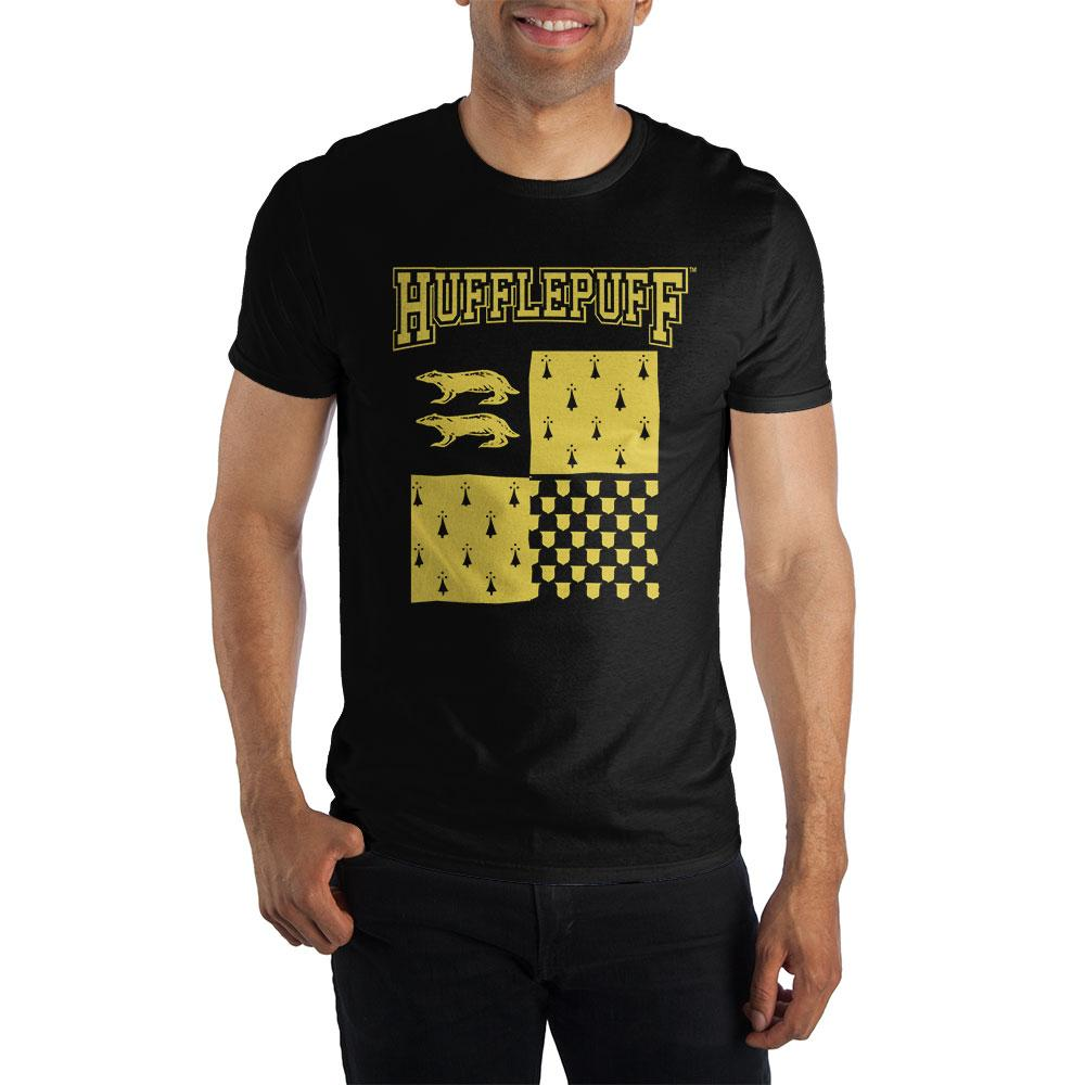 Harry Potter Hufflepuff Element of Earth Men's Black T-Shirt  - Polka Dotted All The Things Boutique