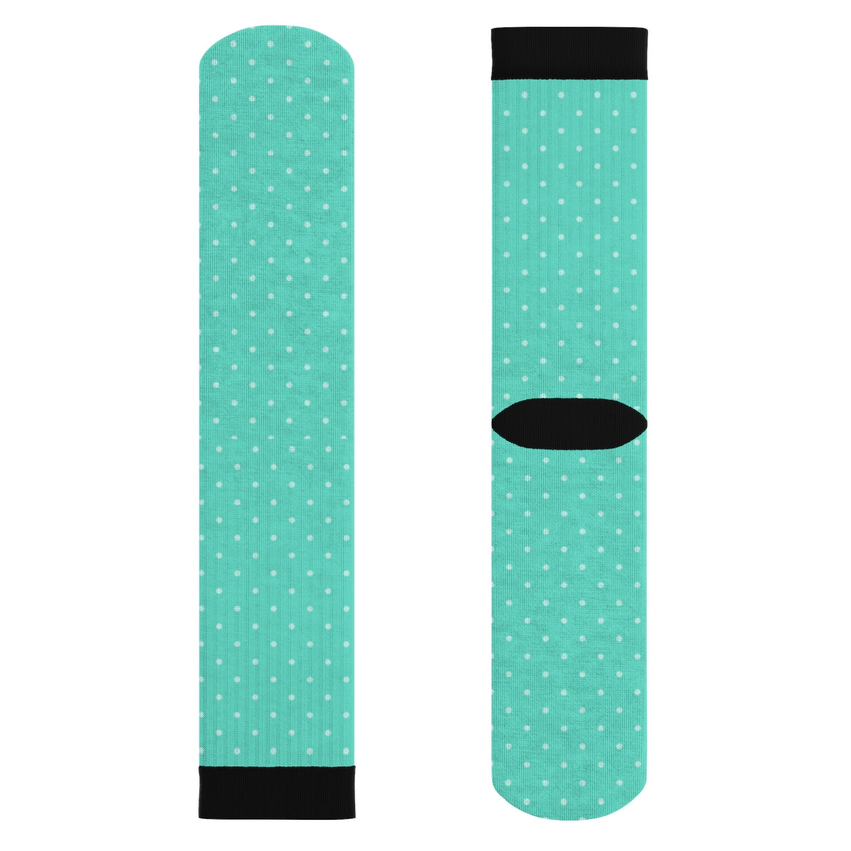 Teal Polka Dot Tube Socks - Onesize - All Over Prints