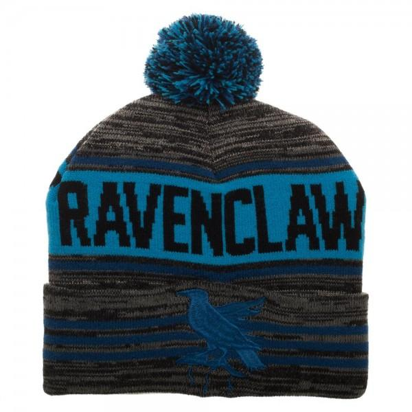 Harry Potter Black Blue Rolled Beanie - Default Title