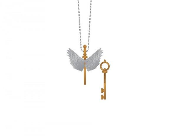 Harry Potter Flying Key Necklace - Angel Effect Shop