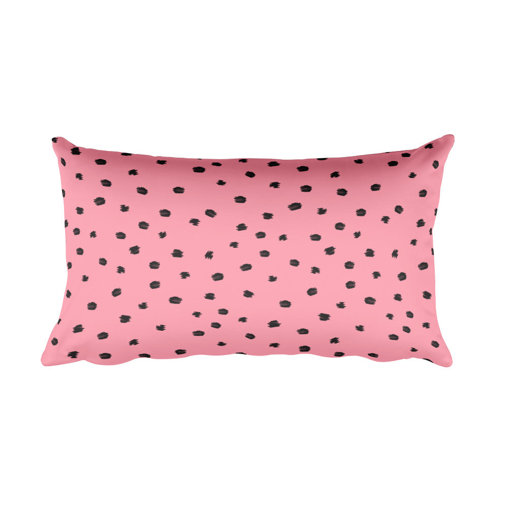 Mauve Polka Dash Rectangular Pillow  - Polka Dotted All The Things Boutique