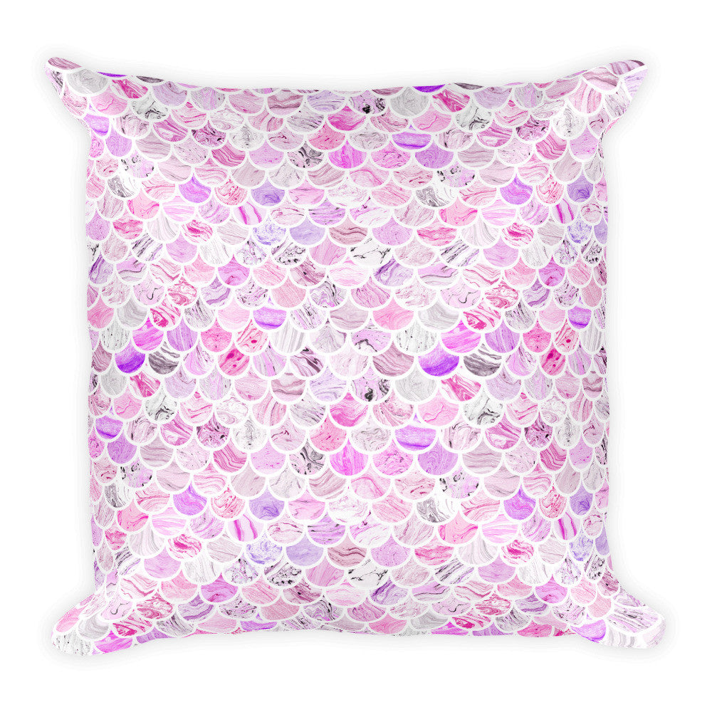 Purple Mermaid Square Pillow  - Polka Dotted All The Things Boutique