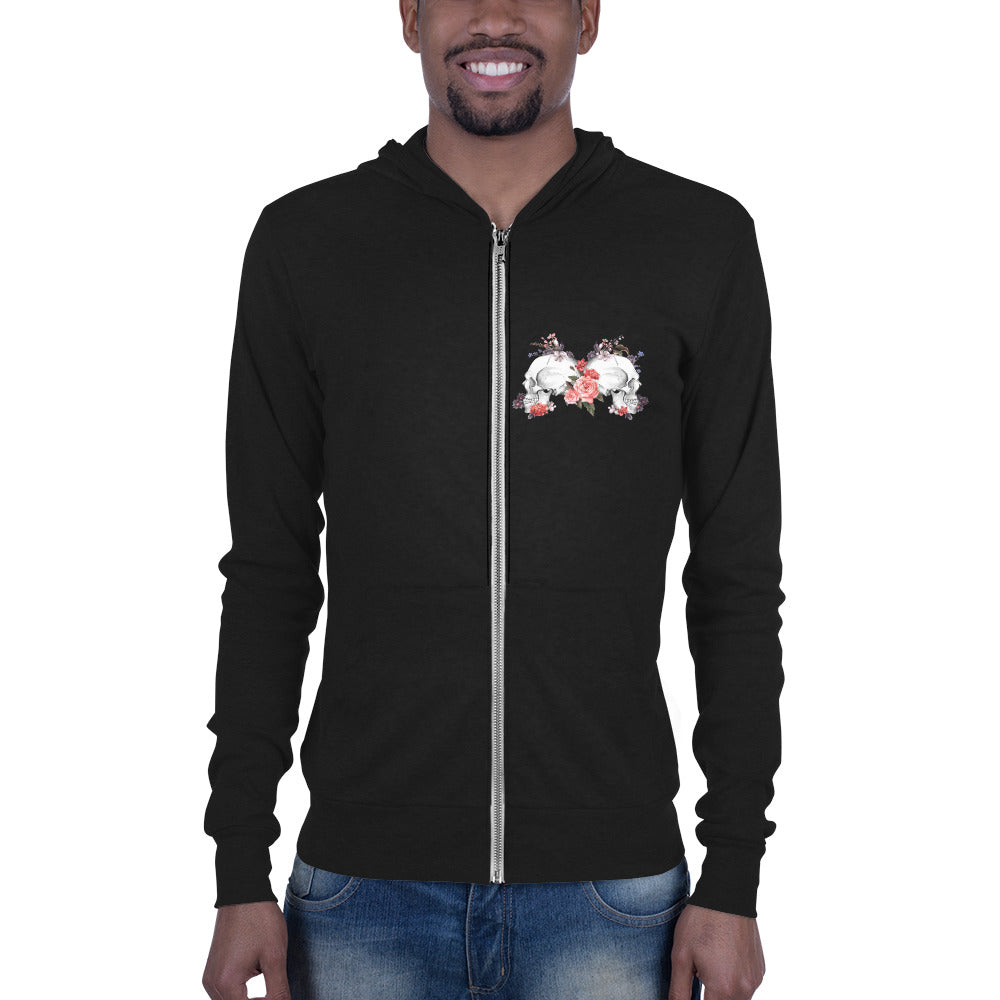 Sweat Zippé Unisexe Avec Capuche - Solid Black Triblend / Xs - Sweatshirt